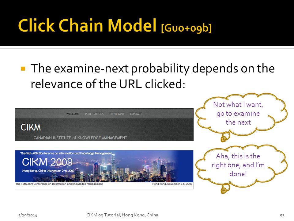 Click Chain Model [Guo+09b]